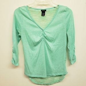 Like New! Mint Green Lace Back Top